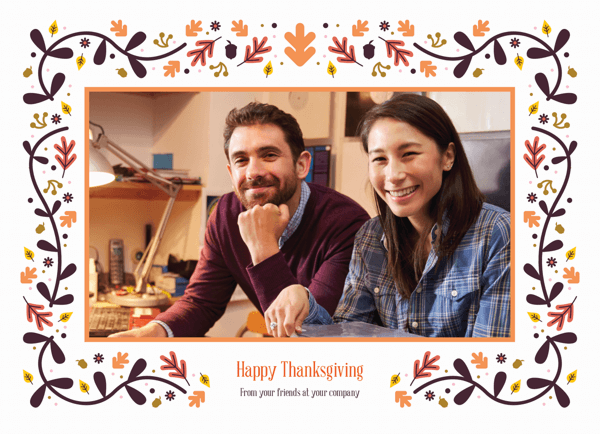 Flat Card-Happy Thanksgiving