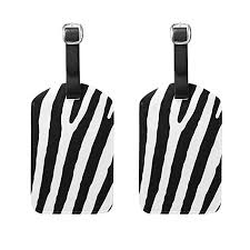 Luggage Tag Zebra Stripes